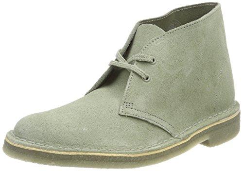 Clarks Damen Desert Boot, Beige (Sage Suede), 41 EU (Clark Boot Wildleder)