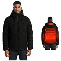 Heated Coat\Jackets For Mens,Winter Tops - USB Electric Fast Heating Clothing For Outdoor Sports Skiing Riding Fishing Camping,Warm Body And Heart