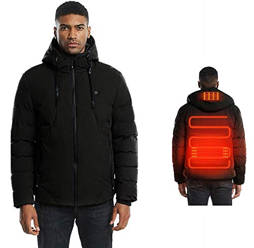 Beheizte Coat Jacken Für Herren, Winter Tops - USB Electric Fast Heizung Kleidung Für Outdoor-Sportarten Skifahren Reiten Angeln Camping, Warme Körper Und Herz