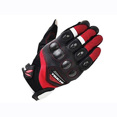 Preisvergleich Produktbild Motorrad Radfahren flechtgestell Training Handschuhe Fell und Leder Herren Schwarz S