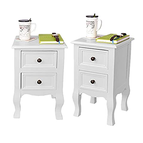 White Bedside Units Bigtree 2 X White Bedside Tables Bedroom Furniture Unit Cabinet Nightstand With 2 Drawers