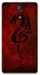 The Racoon Lean Red Dragon hard plastic printed back case / cover for Sony Xperia ZR