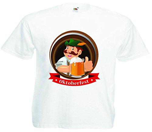 T-Shirt Oktoberfest Wiesn München Junggesellenabschied für Frauen Männer und Kinder in allen Größen XS bis 4XL oder Kinder 104 bis 164 Motiv Nr.11 Kinder-Weiß