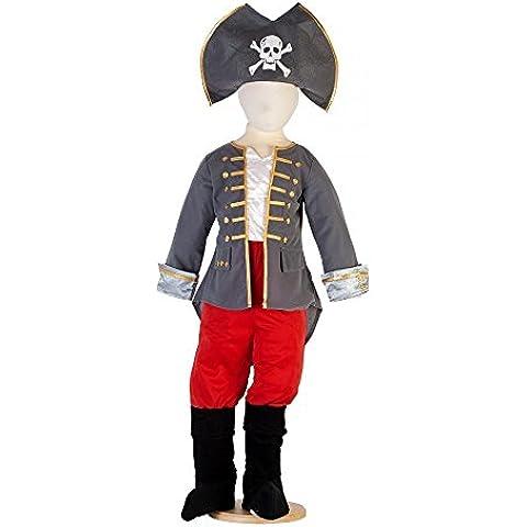 Captain - Disfraz de capitán pirata para niño, talla 5 años (CPT3)