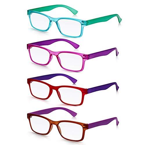 a82877cb65 Read Optics 4 Pack-Gafas de Lectura Vista Presbicia Hombre/Mujer | Lentes  Graduadas