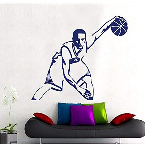 Basketball Wandaufkleber Wohnkultur Vinyl Aufkleber Wohnzimmer Sofa Hintergrund 66x57cm