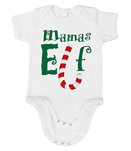 Baby Grinch Kostüm (Artdiktat Baby Organic Bodysuit - Strampler - Mamas Elf Größe 76/86,)