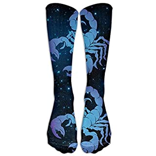 Meius Scorpio Zodiac Sign Casual Unisex Sock Knee Long High Socks Sport Athletic Crew Socks One Size