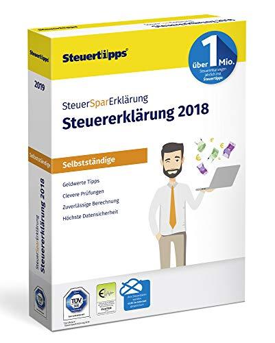 SteuerSparErklärung für Selbstständige 2019, Schritt-für-Schritt Steuersoftware für die Steuererklärung 2018, Steuer CD-Rom für Windows 10, 8, 7