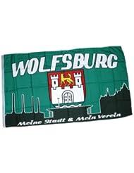 suchergebnis auf f r vfl wolfsburg flaggen wimpel fu ball sport freizeit. Black Bedroom Furniture Sets. Home Design Ideas