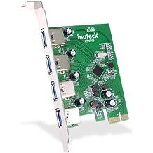 [Sin conexión de energía adicional] Inateck KT4005 USB 3.0 Tarjeta de 4 puertos PCI Express USB3.0, No más conexión de alimentación determinada a través de la ranura PCI-E