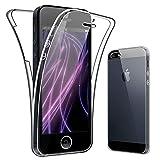 SDTEK Coque pour iPhone 5 / 5s 360 Degres Protection Integral [Transparente Gel] Full...