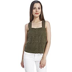 Vero Moda Women's Body Blouse Top (10156281_Ivy Green_M)