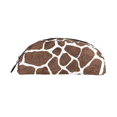 Domoko Animal Giraffe Print Pen Pouch Federmappe Fall Make-Up Kosmetik Tasche mit Reißverschluss - Animal-print Fall