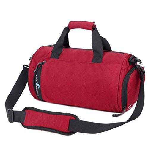 Imagen de  hombre sannysis bolso deportivo gimnasio bolsa portátil de viaje rojo