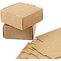 SUNBEAUTY Cajas Kraft marrón de la regalos, Cajas de Papel Kraft Marrón Cartón, Caja de Cartón Pequeño, 5.5*5.5*2.5cm, 20 Piezas