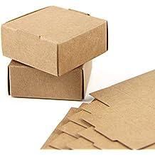 SUNBEAUTY Cajas Kraft marrón de la regalos, Cajas de Papel Kraft Marrón Cartón, Caja
