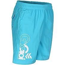 Gio Goi Men's Bondi Logo Swim Shorts - Aqua - Small