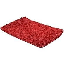 Frandis 190.023 chenilla Alfombra de baño de malla / algodón rojo 50 x 80 cm