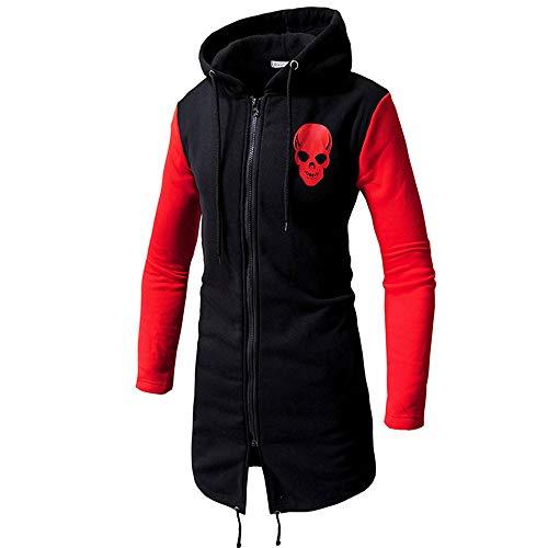 Maglione uomo cappotto inverno moda zipper felpa con cappuccio hoodie maniche lunghe distintivo sweatshirt camicetta dolcevita classico tops qinsling