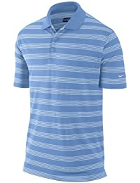 Nike Herren Golf Tour Performance DRI - FIT weiß Rot Schwarz Lila Streifen- Gewebt Polohemd Klein