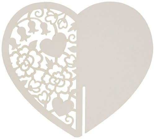 Talking Tables Something in The Air Heart Place Card, Pack of 10, White