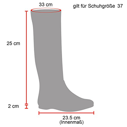 Damen Schlupfstiefel Boots Schuhe 109900 Schwarz Zierknöpfe 38 Flandell
