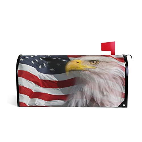 bdeckung, Nordamerika-Adler mit Flagge, magnetisch, Standardgröße, Makover Mailwrap Garten Home Decor ()