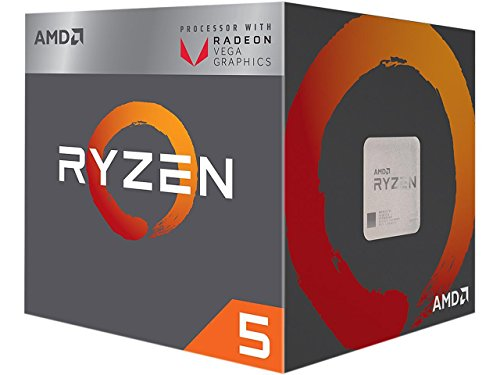 AMD Ryzen 5 2400G 3.6GHz 2MB L2 Box processor - Processors (AMD Ryzen 5, 3.6 GHz, Socket AM4, PC, 14 nm, 2400G)