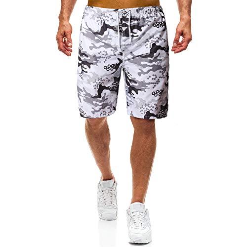DSFJSKJPTE Badeshorts für männer Jungen Badehose Schwimmhose Schnelltrocknend Kurz Vielfarbig Beachshorts Boardshorts Strand Shorts Sporthose mit Mesh-Futter und Verstellbarem Tunnelzug Größe XS-XL,L - Sporthose Größe Kurz Herren