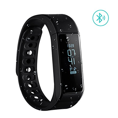 Braccialetto Sport OMorc Bracciale Fitness Smart Bluetooth 4.0 IP65 Impermeabile, Braccialetto Intelligente con OLED Schermo Fitness Tracker Remote Camera, per iPhone Android Smartphone, Compatibile con IOS 8.0 e Superiore, Android 4.4 e Sopra,Nero