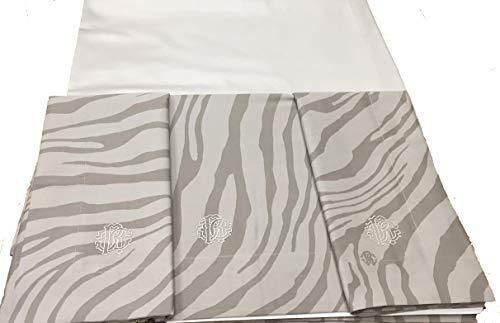 Roberto Cavalli Bettwäsche-Set für Doppelbett aus Reiner Baumwolle Qualität Extra Made in Italy - Cavalli Bettwäsche