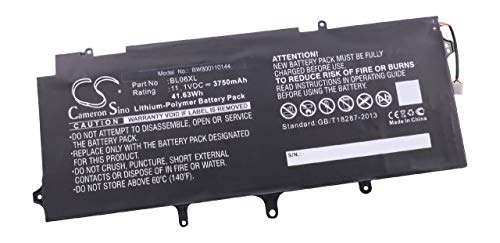 vhbw Li-Polymer Batterie 3750mAh (11.1V) pour Ordinateur Portable, Notebook HP Elitebook Folio 1040 G1, 1040 G2 comme BL06XL,722236-2C1, HSTNN-W02C.
