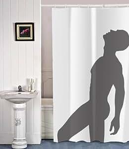 Der coole duschvorhang mit einer silhouette von einem sexy for Coole duschvorha nge