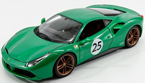 Bburago Maisto France 76101 Ferrari 488 Gtb The Green Jewel 70th 1/18ème Bburago 4893993761012