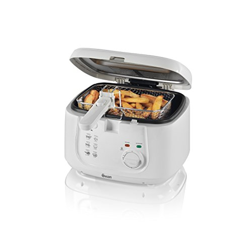 An image of the Swan SD6080N Deep Fat Fryer with Viewing Window, Easy Clean, 2.5 Litre, 1800 W, White