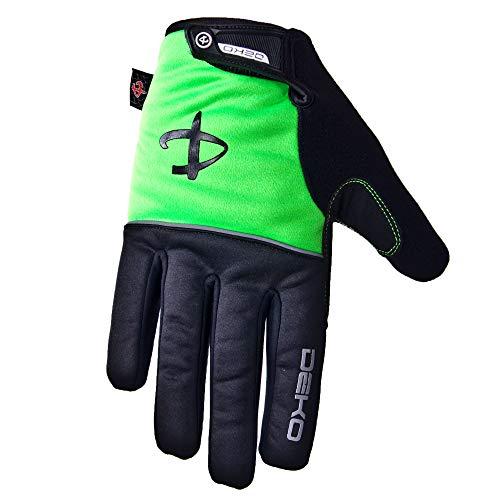 Deko Herren Fahrradhandschuhe Winddicht und Touchscreen warm Handschuhe Thermo Fleece für Radsport