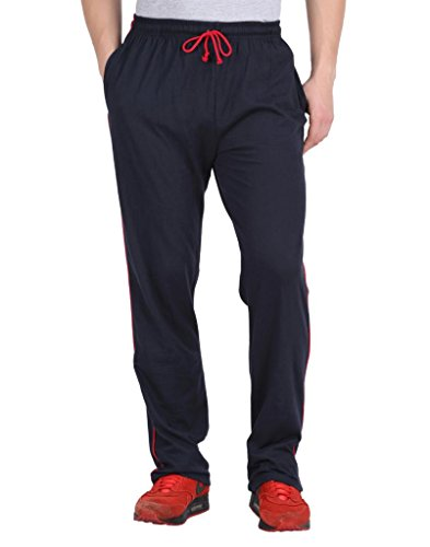 Checkersbay Men's Cotton Knitted Track Pant (C4_Blue_Medium)