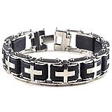 KKVK Hommes Nouvelle Santé Titane Acier Bracelets Mâle Bijoux De Mode Géométrie Bracelets À Chaîne Une Taille