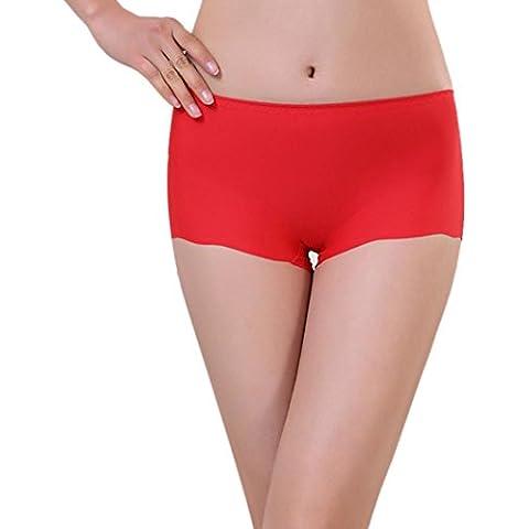 Ropa interior Baonoop Escritos de mujeres Invisible ropa interior Calzoncillos Boxer lycra sin costura entrepierna