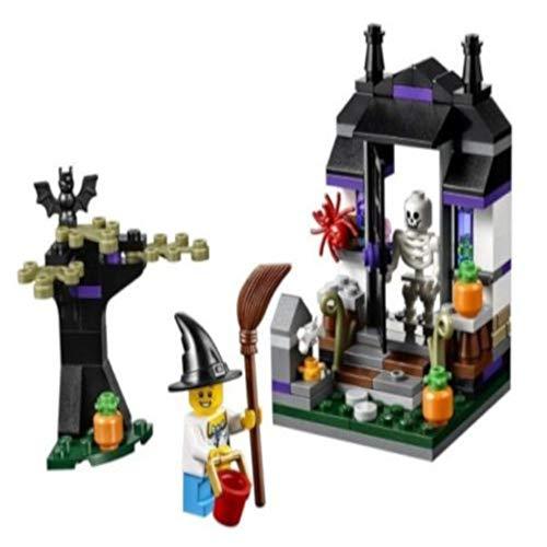 B-Creative Scary Blocks Trick oder behandeln Halloween saisonale Box Gräber Haunted Haus Grabsteine Limitierte Auflage