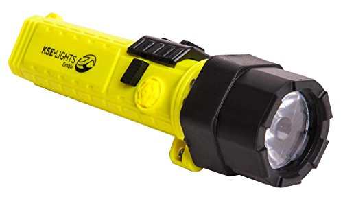 feuerwehr knickkopflampe KSE-LIGHTS GmbH -8810 LED-Handlampe mit ATEX 1G-Zulassung, Gelb