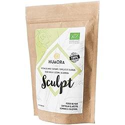 Huaora Sculpt - Proteína de arroz integral, proteína de guisante y proteína de semilla de calabaza   Proteínas Vegetales Orgánicas en Polvo   Sin Gluten y apto para Veganos