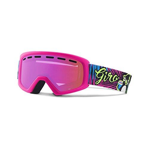 Giro Erwachsene REV Ski Und Snowboard Brille, Penguin Pop/Amber Pink Lens, One Size