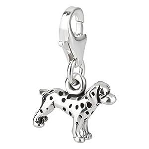 Charm Anhänger Hund Dalmatiner aus 925 Sterling Silber