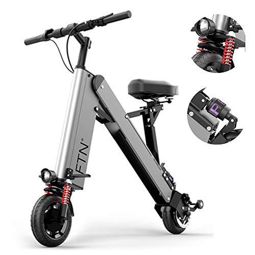 Faltbare Elektroroller, 8-Zoll-Elektroroller, Mini elektrisches Fahrrad, Reichweite von 40 km, Last 120kg, grau -