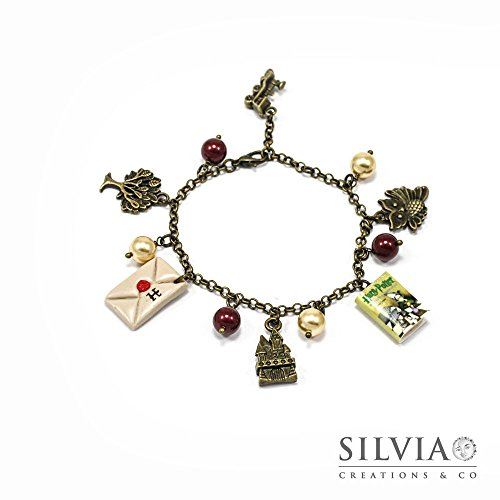 Bracciale Harry Potter Pietra Filosofale inspired con charms bronzo