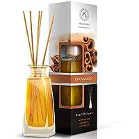 Raumduft Reed Diffuser ZIMT 100ml - Cinnamon - mit Rattanstäbchen - mit Naturreinem Ätherischen Zimt Öl - Intensiv... preisvergleich bei billige-tabletten.eu