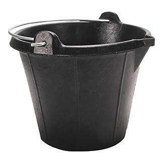 Rubi 88913 Cubo de goma industrial, Negro, 12 l
