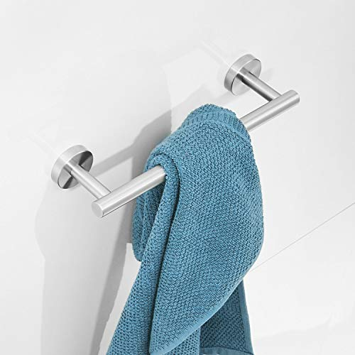 toallero moderno para el baño de acero inoxidable 30 cm Brathroom Toallero para toallas Acabado en níquel Montaje en pared esquina Leekayer